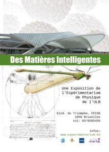 """Affiche de l'exposition """"Les matières Intelligentes""""."""