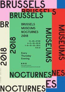 Affiche des Nocturnes de Bruxelles 2018